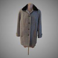 London Fog Faux Fur Collar Car Coat