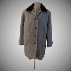 London Fog Faux Fur Collar Car Coat