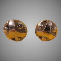 Modern Swirled Sterling Swank Cufflinks - Free shipping