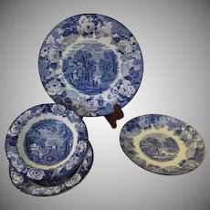 Wood & Sons English Scenery Sauce Bowls and Plates - b214