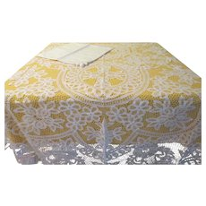 Battenburg Lace Tablecloth and Napkins - b214