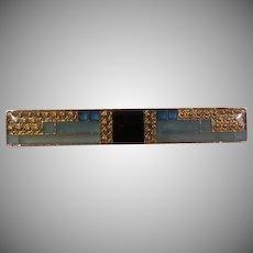 Blue Stripe Bar Pin - Free Shipping