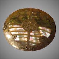 Abalone Pin/pendant - Free shipping