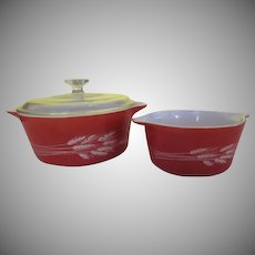 Pyrex Autumn Harvest Covered Casserole - G