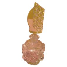 Glass Stopped Perfume Bottle - b217