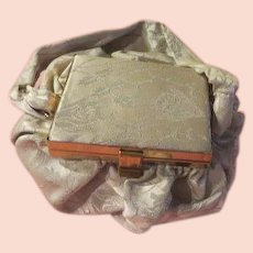 Brocade Bag with Mirror in Lid - b217