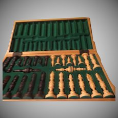 X-large Wood Carved Chess Set