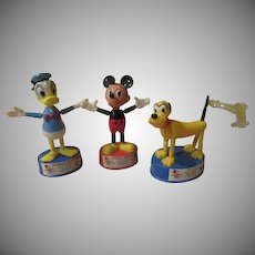 Walt Disney Productions Kohner Maxi Puppet Mickey Mouse, Donald duck and Pluto - b247