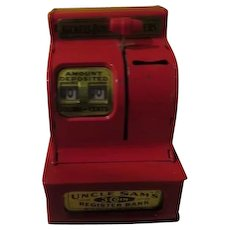 Uncle sam's 3 Coin register Bank - b251