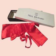 Red Silk Tuxedo Set Cummerbund Tie Set - B254