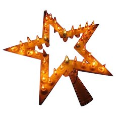 Lighted Star Christmas Tree Topper - - b250