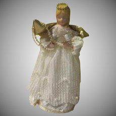 Ceramic Face and Hands Angel Tree Top - b255