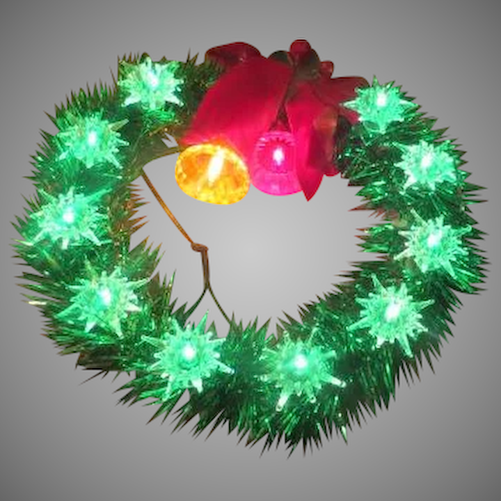 Lighted Christmas Tree.Bells And Bows Lighted Christmas Tree Topper B253
