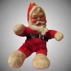 "Plush Santa ""Jingle Bells'' Music Box - x-17"