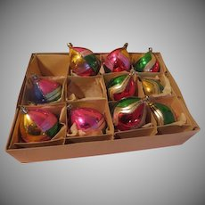 Half and Half Polish Christmas Tree Ornaments - - X-17-L
