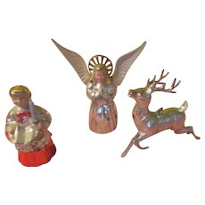 Silvered Ornaments Trio of Christmas Tree Ornaments - X-17