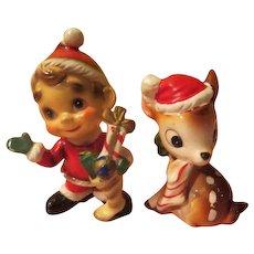 Elf and Reindeer Christmas Figures - X-17