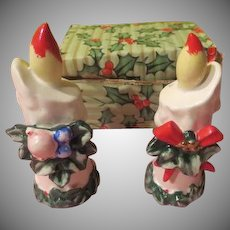Lefton Candle Salt and Pepper Shakers in Box - X-17