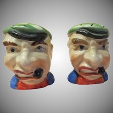 Smoking Stogies Sailors Salt and Pepper Shakers - b226