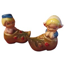 Dutch Couple in Wooden Shoes Salt and Pepper Shakers - JSP