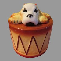 Sierra Vista Dog on Drum Cookie Jar