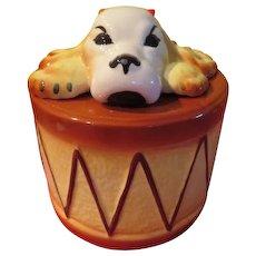Sierra Vista Dog on Drum Cookie Jar