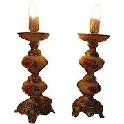 Flickering Flame Boudoir Lamps - b228