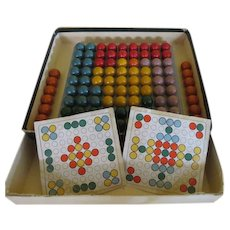 Lost Marble Found - Wood Marbles and Rack - b222