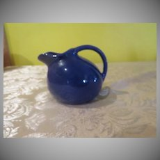 Rolly-Poly Cobalt Blue Ball Jug/Creamer - b245