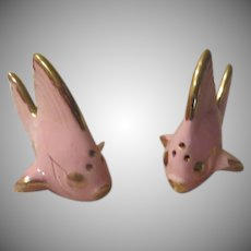 Pink Angel Fish Shakers - b245