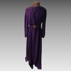 Purple Royalty Wrap Top Floor Length Gown