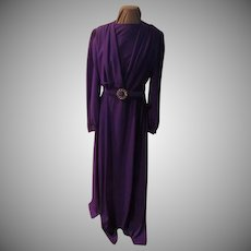 Purple Rpyalty Wrap Top Floor Length Gown