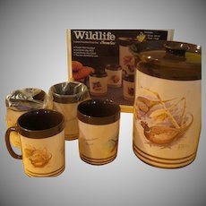 Look at the Grouse Themo-serv Wildlife Pitcher and Mug in Box  - g