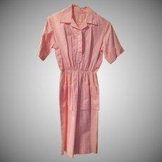 Pink seersucker Shirtwaist