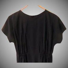 Snap to it Black Dress