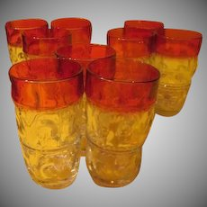 Tiffin Kings Crown Ruby Flashed Tumblers - B228