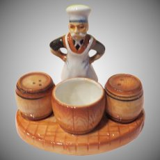 Brewmeister with Kegs Condiment/salt and Pepper Shakers - b226