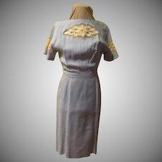 Organza and Lace Powder Blue Dress