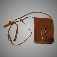 Crossbody Leather Mini Purse with buckle. - b227