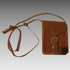 Crossbody Leather Mini Purse with buckle. - b227