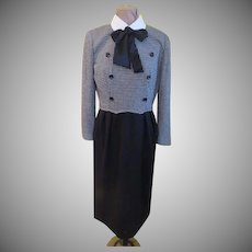 Bowed and Checked Leslie Fay Dress