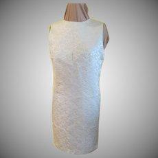 Pale Blue Brocade Skimmer/dress
