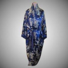 Gold Embroidered Dragons on Navy Kimono/robe