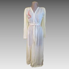 Embroidered Dragon Robe/dressing Gown