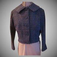 Blue Tweed o The Waist Jacket