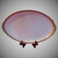 Union Ceramique Limoges France M. F. & Co Small Platter - LBB