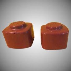 Brookpark Block Salt and Pepper Shakers - B228