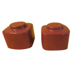 Brookpark Block Salt and Pepper Shakers - B228