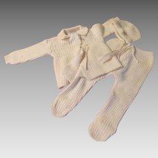 Snowy White Youthcraft Infant 3 Piece Sweater Set - B223