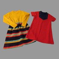 Striped Little Girl Dresses Size 6